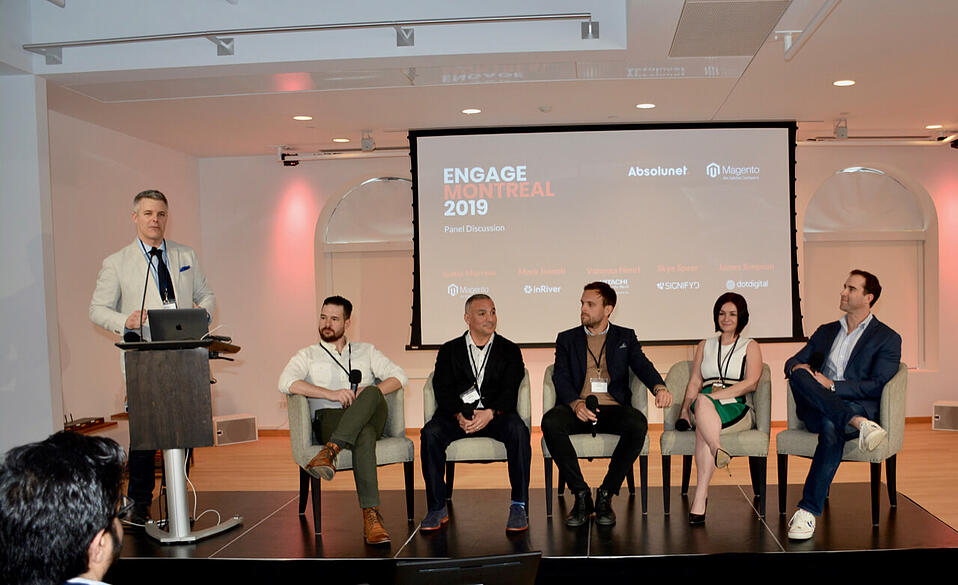 Speakers included some of the sharpest minds and top people at Magento, dotdigital, inRiver, Signifyd, Hitachi Systems Security and Absolunet.