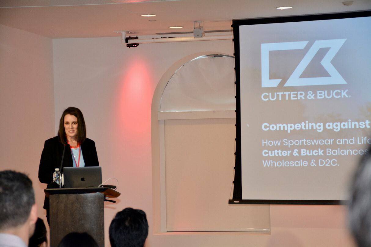 Dana Kleckner, Director, Sales Operations, Customer Service at Cutter & Buck walked the crowd