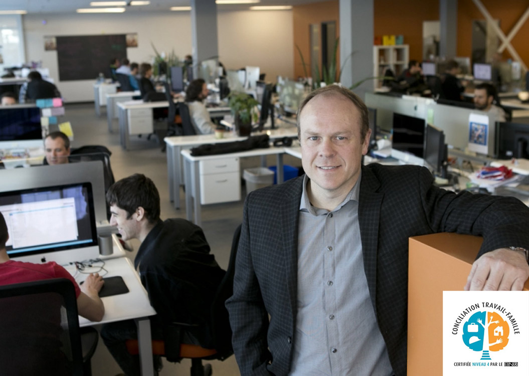 Martin Thibault CFO at Absolunet's premises
