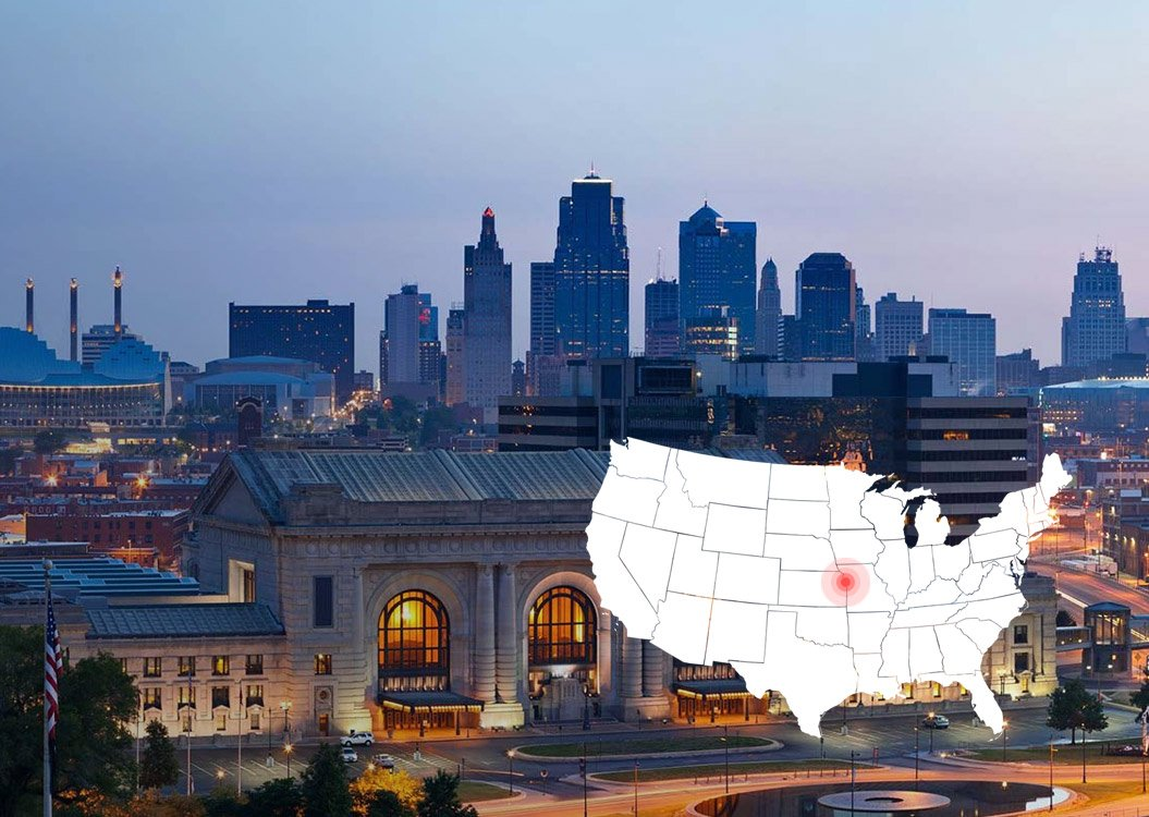 An image of the City of Kansas City to present the new Absolunet's office in KC