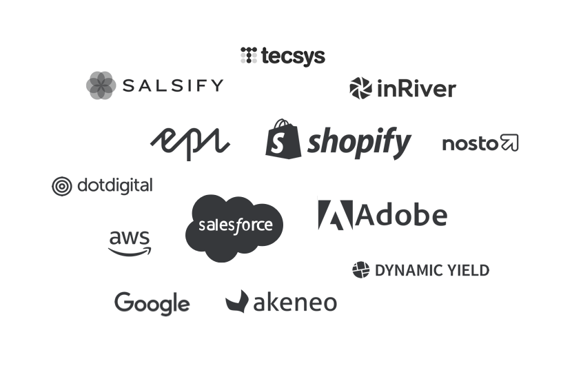 Logos of technology partners of Absolunet