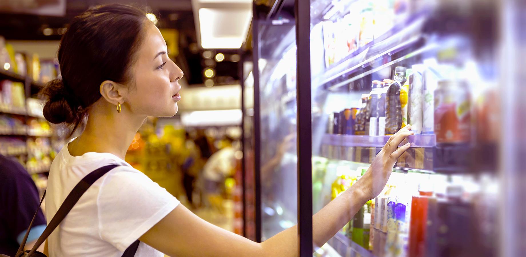 Woman shopping supermarket