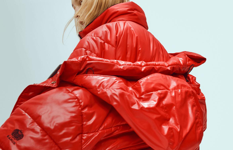 Woman wearing a KANUK jacket