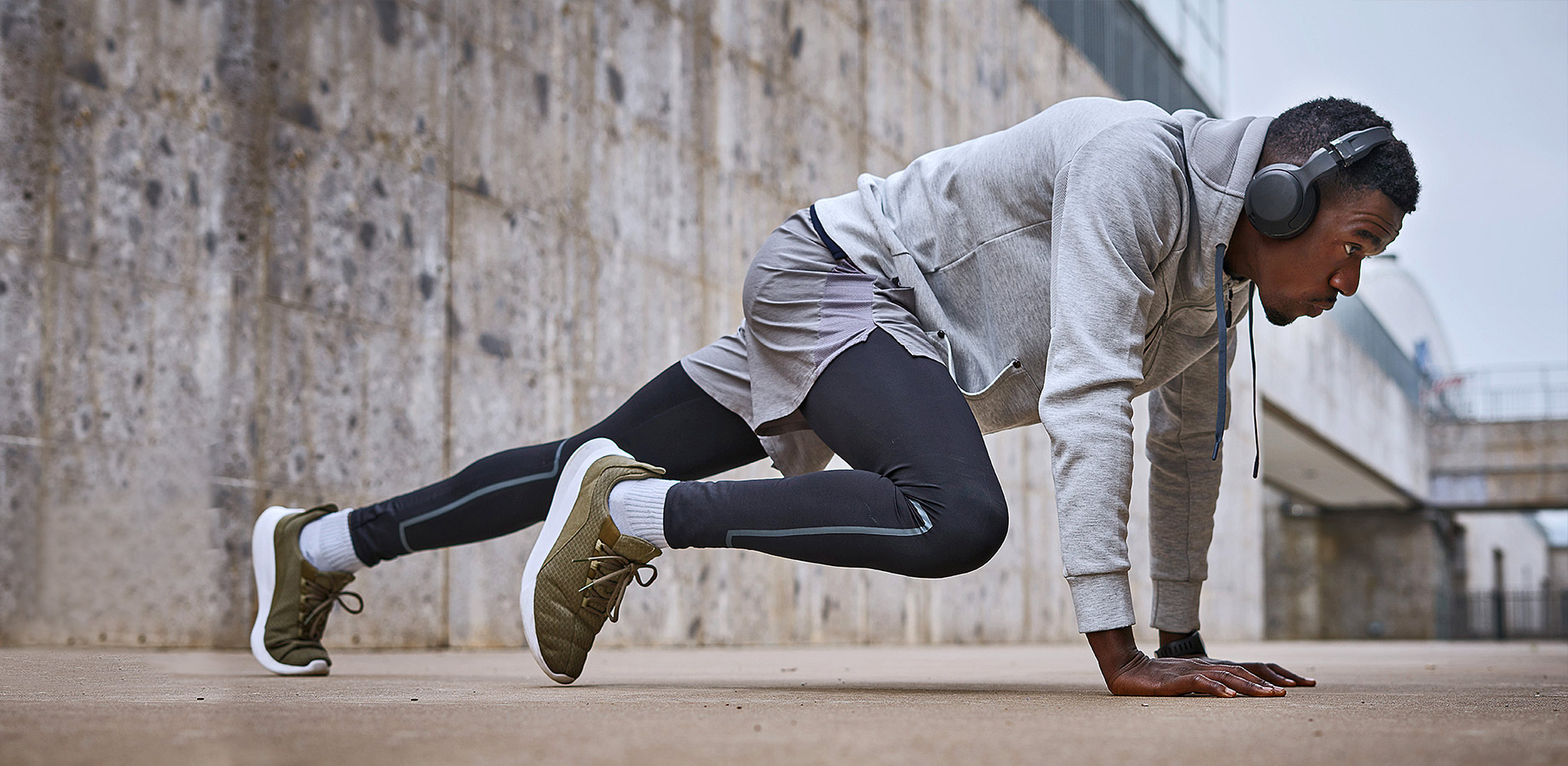 Man doing physical exercise