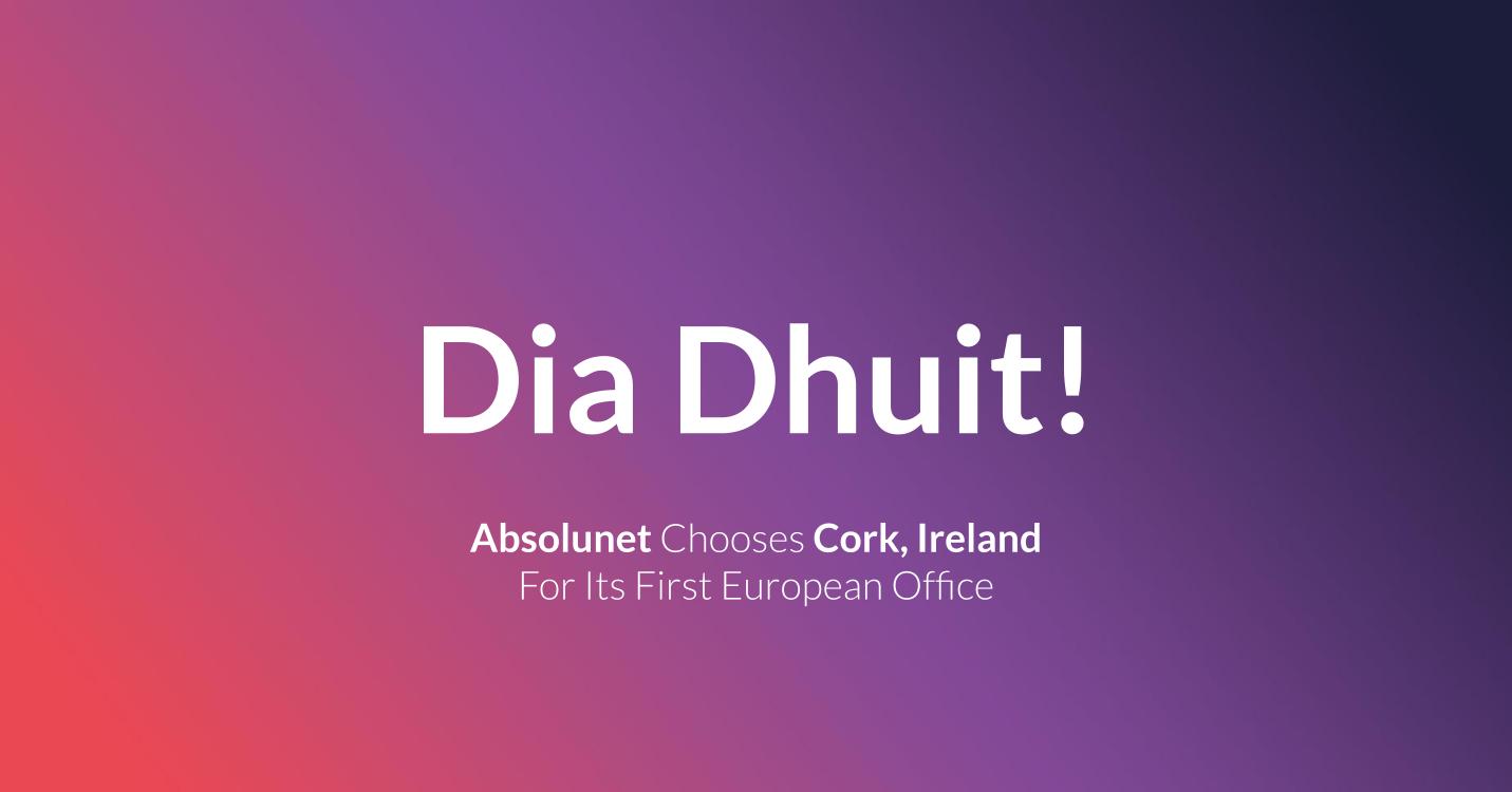 New office of Absolunet in Cork