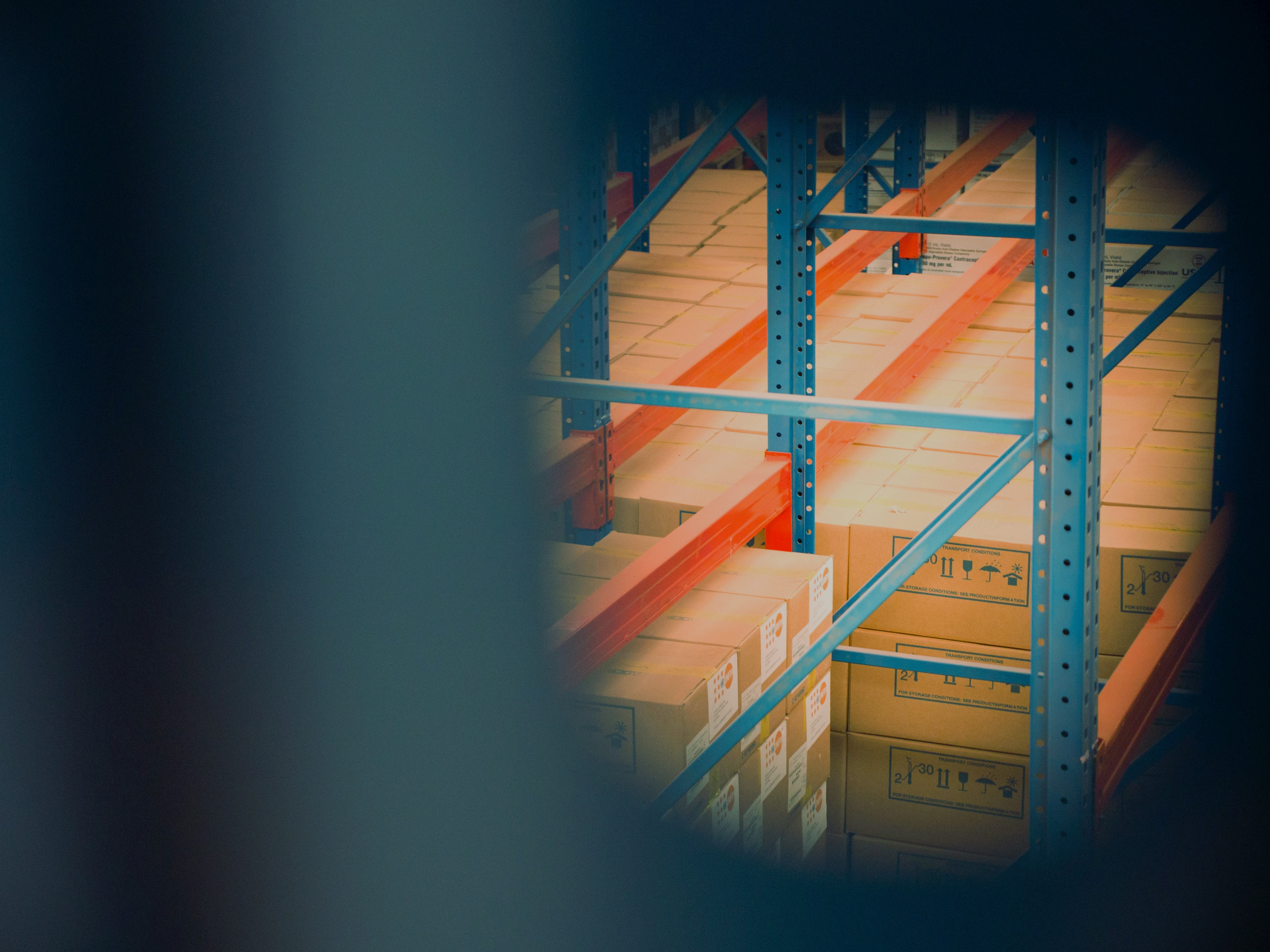 Image of a warehouse with boxes.