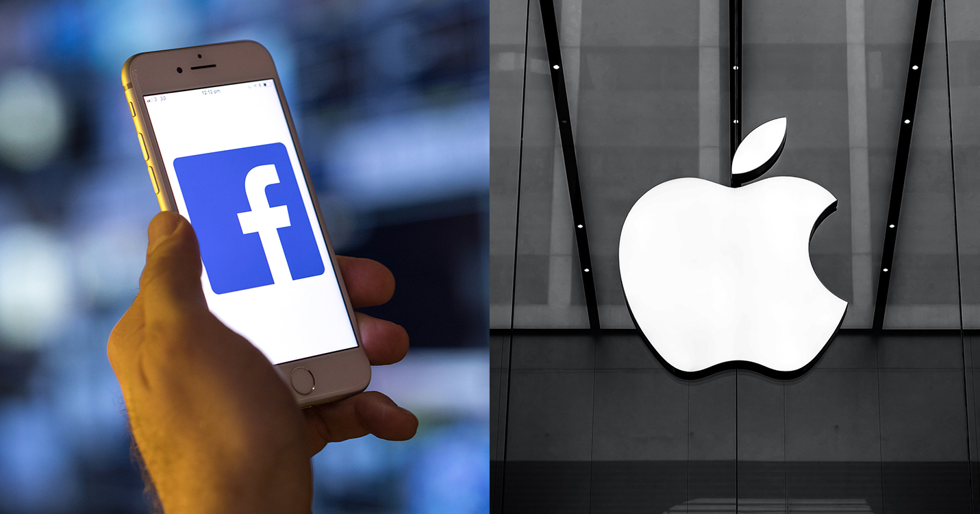 Logo Facebook versus Logo Apple