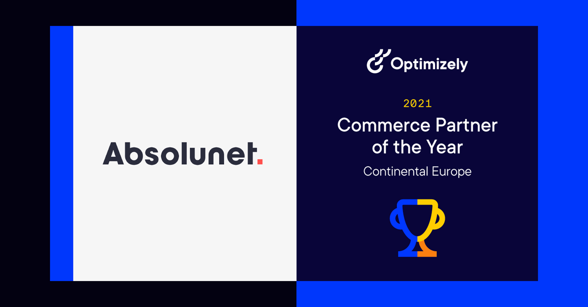 Absolunet and Optimizely commerce partner of the year 2021